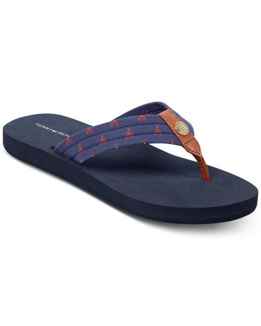 230bb29d6747 Tommy Hilfiger - Blue Ceviche Flip-flop Sandals - Lyst ...