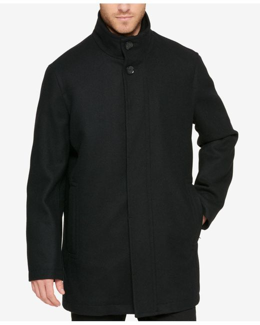Cole Haan - Black Men's Overcoat for Men - Lyst