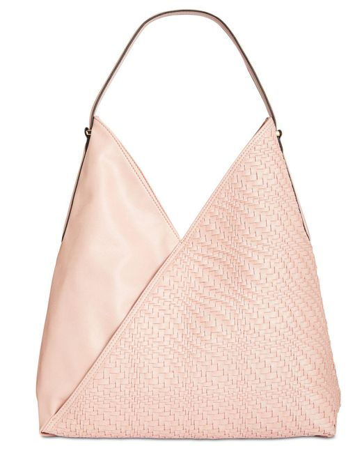 INC International Concepts | Pink Blakke Woven Large Hobo | Lyst