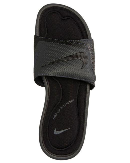96e49a9188ce ... Lyst Nike - Black Men s Solarsoft Comfort Slide Sandals From Finish Line  for Men ...