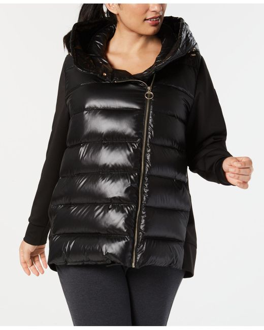 Calvin Klein - Black Performance Plus Size Quilted Hooded Down Jacket - Lyst