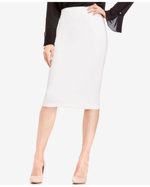 Vince Camuto - White Skirt, Ponte-knit Midi - Lyst
