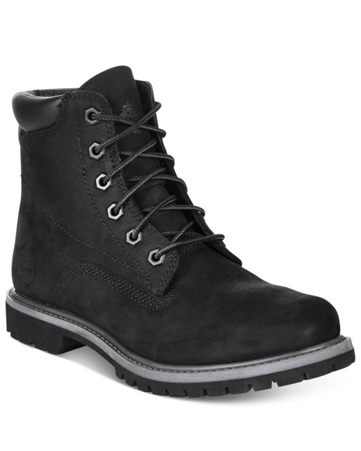 Timberland - Black Waterville Premium Booties - A Macy's Exclusive - Lyst