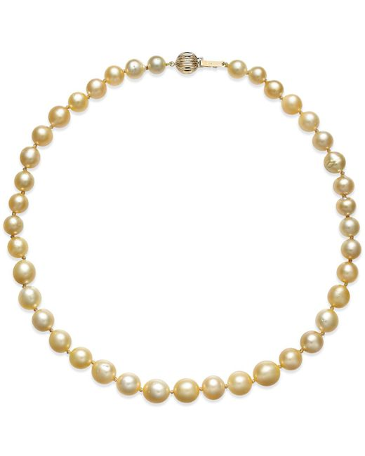 Macy's | White Cultured Freshwater Pearl Necklace (8-10mm) In 14k Gold | Lyst