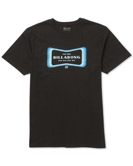 Billabong - Black Pulse Logo Graphic T-shirt for Men - Lyst