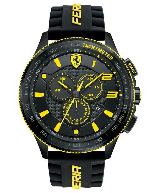 Ferrari   Men's Chronograph Scuderia Black Silicone Strap Watch 48mm 830139 for Men   Lyst
