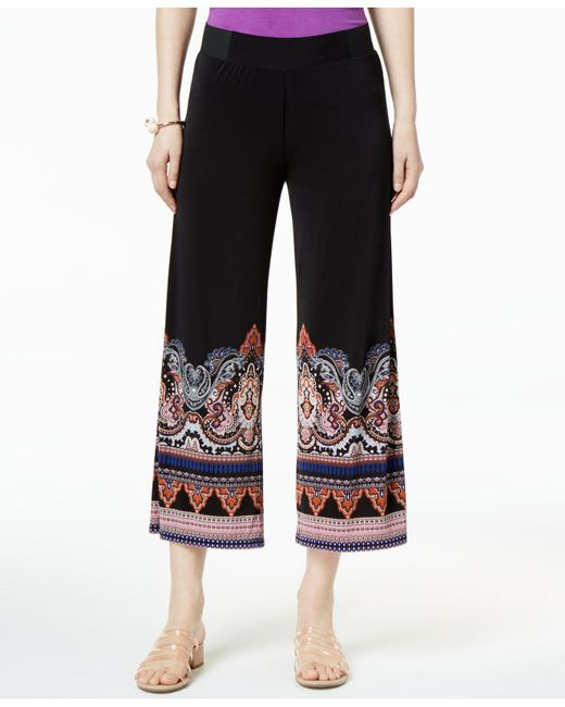 INC International Concepts - Black I.n.c. Petite Printed Cropped Soft Pants, Created For Macy's - Lyst