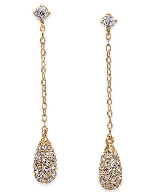 Danori - Metallic Gold-tone Pavé Drop Earrings - Lyst