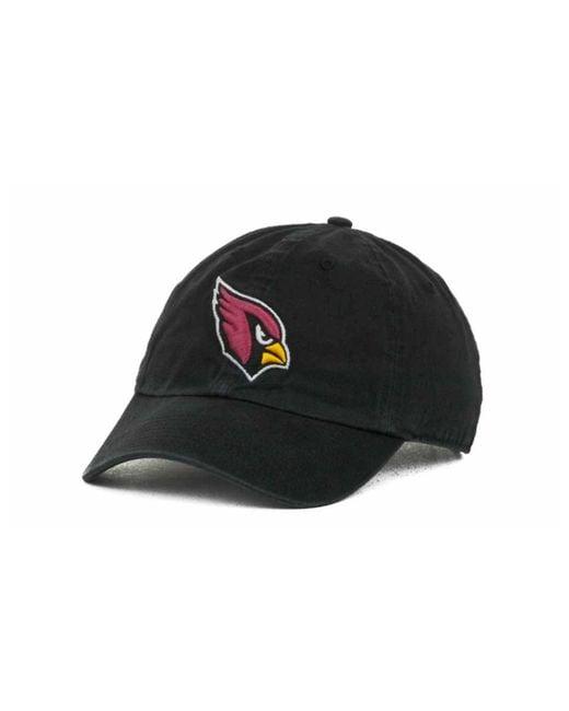 47 Brand - Black Arizona Cardinals Clean Up Cap for Men - Lyst