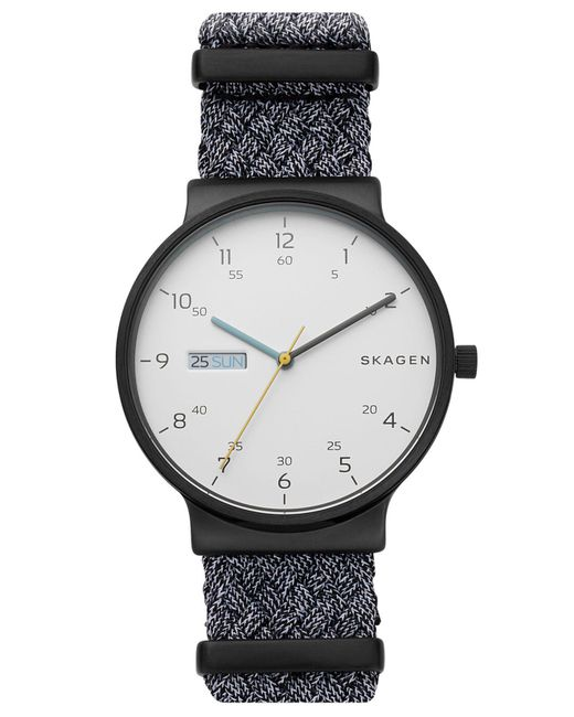 Skagen - Black Ancher Gray Nato Nylon Strap Watch 40mm - Lyst