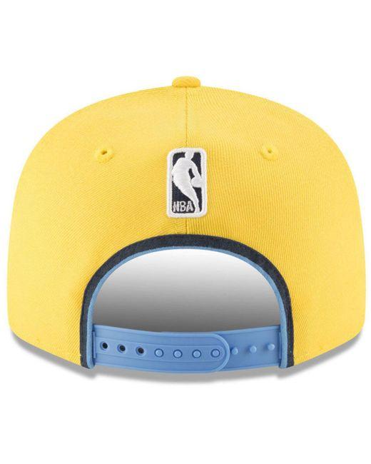 pretty nice 8928b 0e9a6 ... order ktz yellow statement jersey hook 9fifty snapback cap for men lyst  729d2 088f3