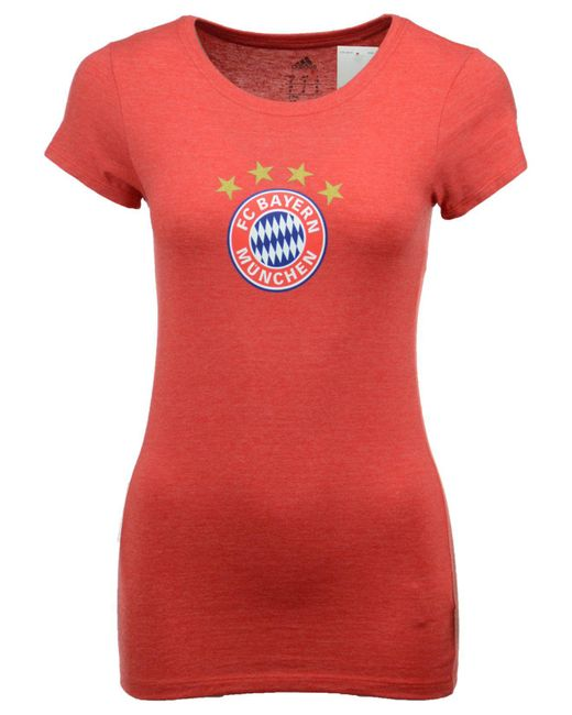 Adidas - Red Women's International Soccer Club Team Crest T-shirt - Lyst