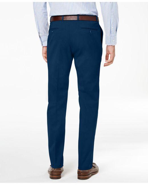 957575e85e392f ... Tommy Hilfiger - Blue Classic-fit Flex Stretch Comfort Dress Pants for  Men - Lyst ...