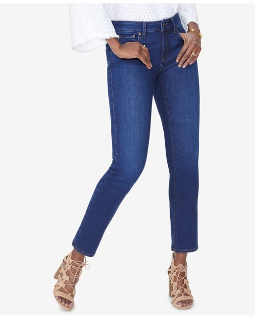 NYDJ - Blue Sheri Tummy-control Slim-leg Jeans, Created For Macy's - Lyst