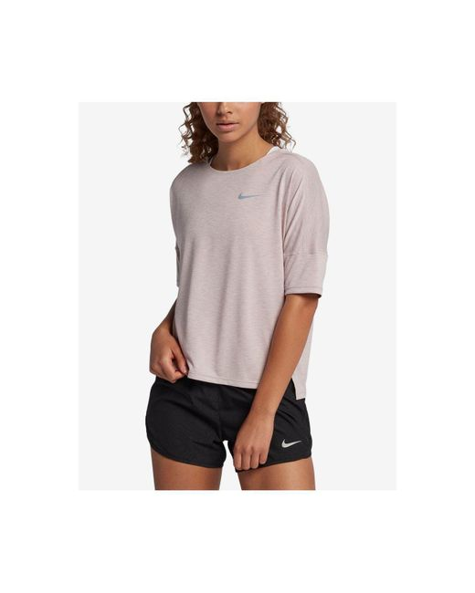 Nike - Multicolor Dry Medalist Cropped Running Top - Lyst