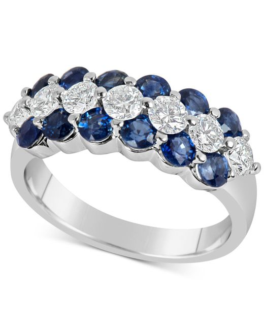 Macy's - Metallic Sapphire (1-5/8 Ct. T.w.) And Diamond (5/8 Ct. T.w.) Ring In 14k White Gold - Lyst