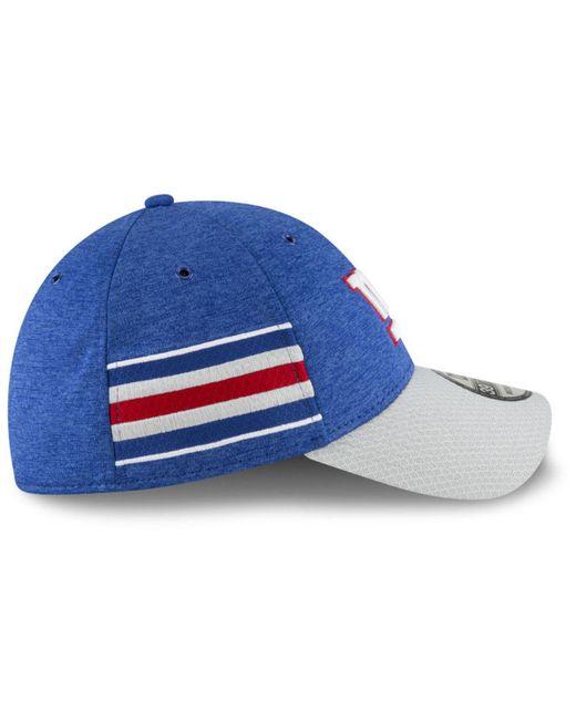 ... KTZ - Blue New York Giants On Field Sideline Home 39thirty Cap for Men  - Lyst ... 39542d065