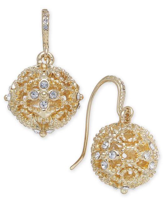 Charter Club - Metallic Crystal Filigree Drop Earrings, Created For Macy's - Lyst