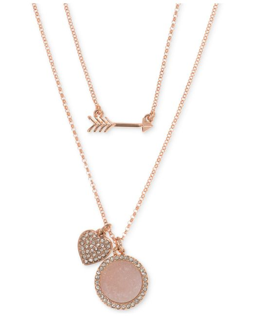 Ivanka Trump - Pink Rose Gold-tone Two-in-one Multi-charm Pendant Necklace - Lyst