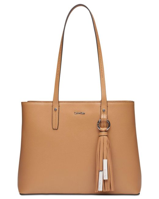CALVIN KLEIN 205W39NYC - Brown Maggie Leather Tote - Lyst