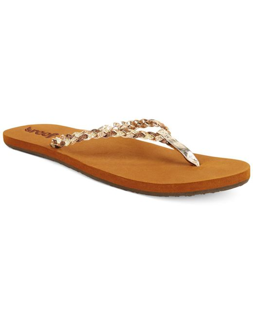 Reef - Brown Stars Flip Flops - Lyst