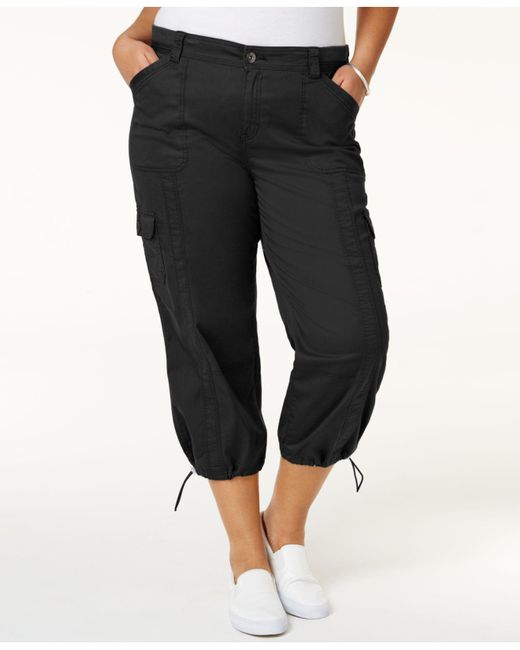 Style & Co. - Black Plus Size Capri Cargo Pants - Lyst