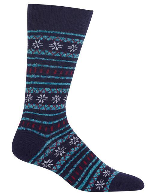Hot Sox - Blue Men's Fair Isle Socks for Men - Lyst