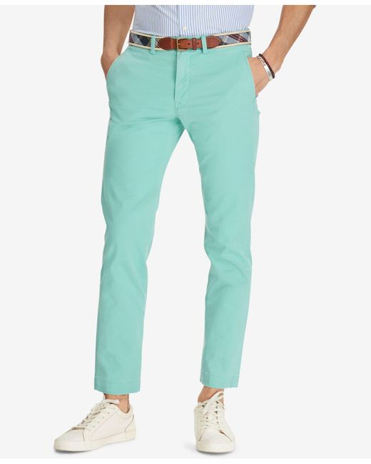 Polo Ralph Lauren - Green Men's Straight Fit Chino Pants for Men - Lyst