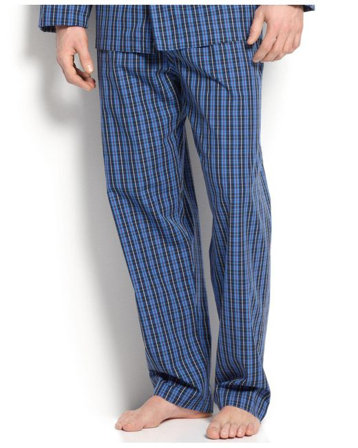 Polo Ralph Lauren - Blue Men's Harwich Plaid Pajama Pants for Men - Lyst