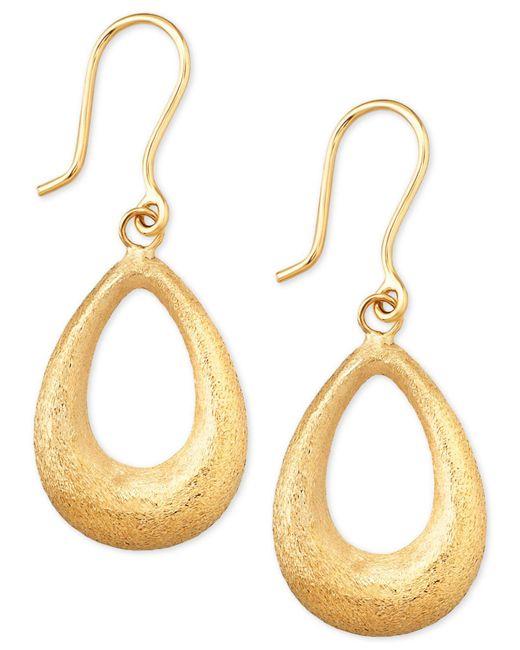 Macy's - Metallic Matte Finish Teardrop Drop Earrings In 10k Gold - Lyst