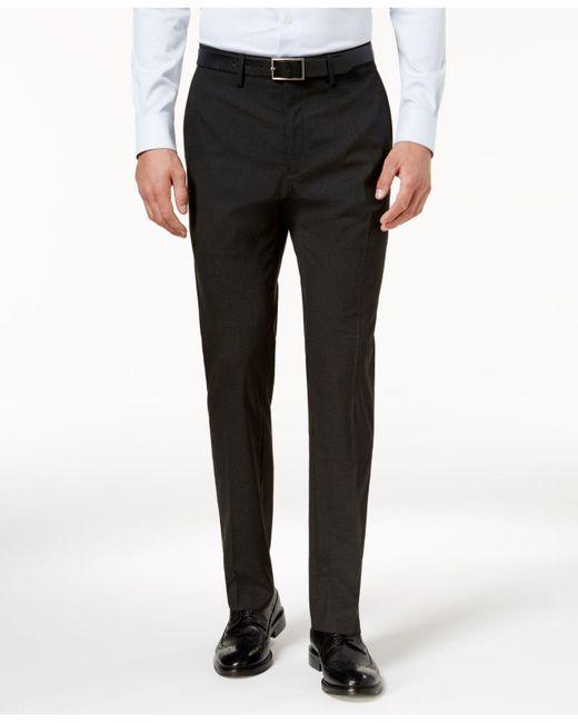 Kenneth Cole Reaction - Gray Men's Slim-fit Stretch Glen Plaid Dress Pants for Men - Lyst