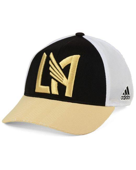 f2c97d9e2dca9 ... Adidas - Black Los Angeles Football Club Authentic Mesh Adjustable Cap  for Men - Lyst ...