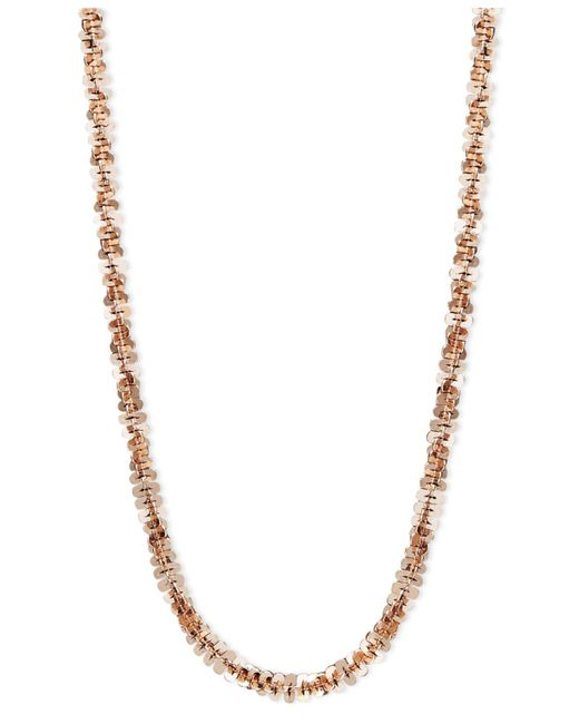 """Macy's - Multicolor 14k Rose Gold Necklace, 16"""" Faceted Chain (1-1/2mm) - Lyst"""
