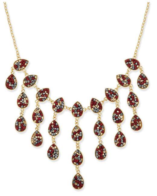 INC International Concepts | Metallic Gold-tone Multi-bead Statement Necklace | Lyst