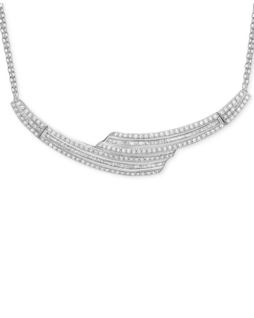 Wrapped in Love - Metallic Diamond Collar Necklace (2 Ct. T.w.) In Sterling Silver - Lyst