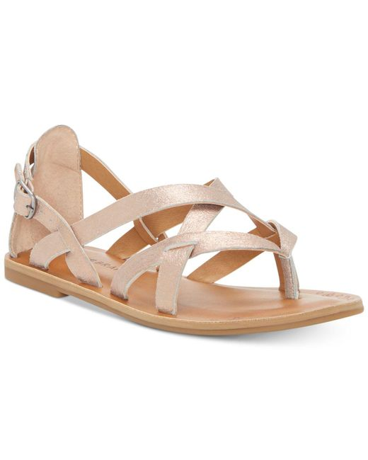 Lucky Brand - Pink Ainsley Flat Sandals - Lyst