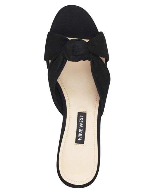 bdf3c271574 ... Nine West - Black Kayla Knotted Dress Sandals - Lyst ...