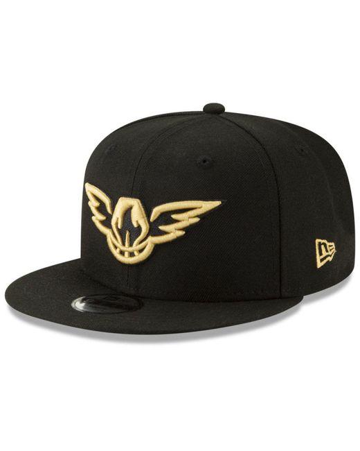 detailed pictures b8b23 3831b KTZ - Black Atlanta Hawks Nba 9fifty City Edition Snapback for Men - Lyst  ...