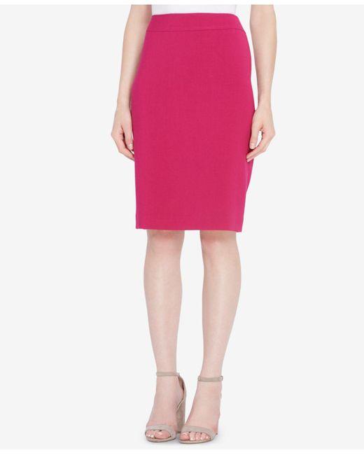 Tahari   Pink Pencil Skirt   Lyst