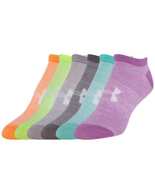 Under Armour | Multicolor Women's 6-pk. Liner No Show Socks | Lyst