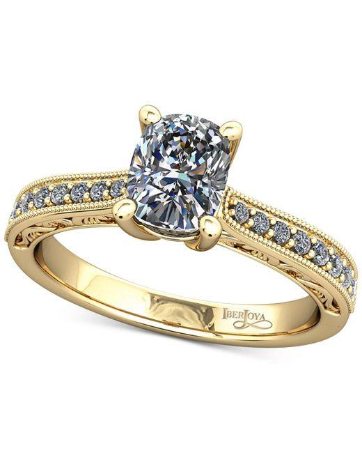 Macy's | Metallic Diamond Filigree Mount Setting (1/6 Ct. T.w.) In 14k Gold | Lyst