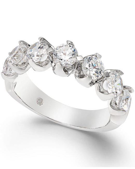 Macy's - Diamond Scalloped Ring (1-1/2 Ct. T.w.) In 14k White Gold - Lyst