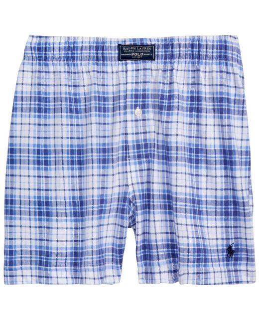 Polo Ralph Lauren - Blue Knit Boxers for Men - Lyst