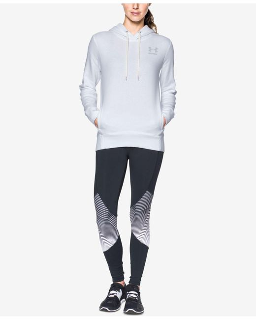 Under Armour | White Favorite Fleece Hoodie | Lyst