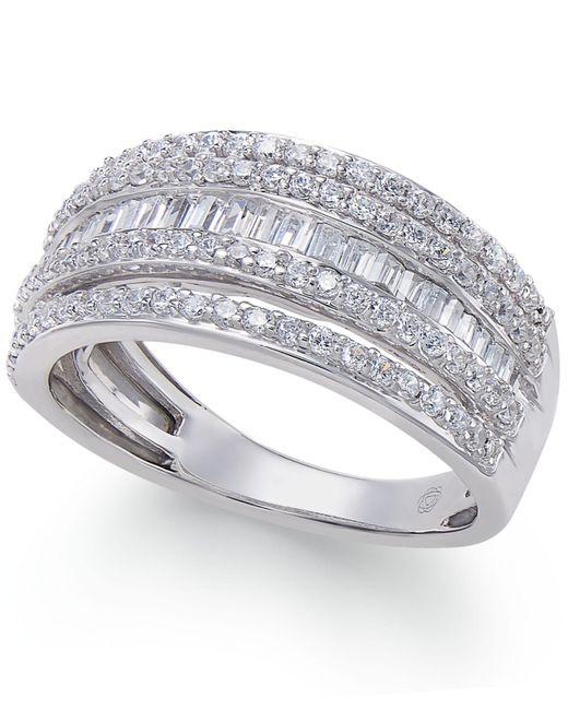 Macy's | Metallic Diamond Multi-row Ring (1 Ct. T.w.) In 14k White Gold | Lyst