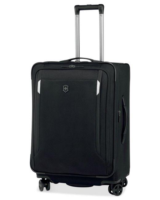 "Victorinox | Black Werks Traveler 5.0 24"" Dual Caster Spinner Suitcase for Men | Lyst"