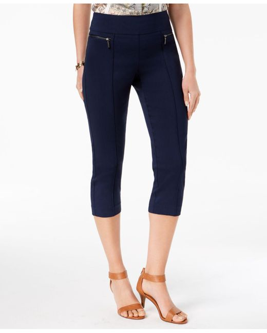 Style & Co. - Blue Pull-on Cropped Pants - Lyst