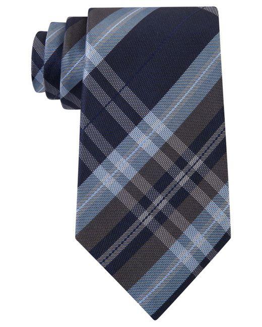 Kenneth Cole Reaction - Black Men's Plaid Classic Tie for Men - Lyst