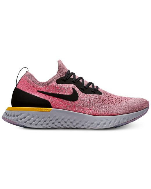 Nike - Purple Epic React Flyknit Running Sneakers From Finish Line - Lyst