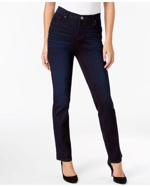Lee Platinum - Blue Gwen Straight-leg Classic Jeans - Lyst